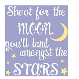 "Wall Art - Moon & Stars Theme - 9"" x 12"" NWT"